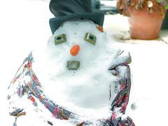 Disappearance / Disparition (jeanclaude-Betapixel) Tags: bonhommedeneige snowman schneeman hiver winter lumixgx8