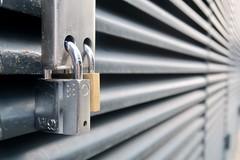 Day 14. Double locked. (Rob Emes) Tags: g7xii 365 canon lockup door gate grill perspective locks lock padlocks padlock padlocked