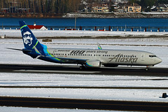 Boeing 100 Years Strong (planephotoman) Tags: boeing 737 739 737900 737990 737990er n248ak alaskaairlines boeing100yearsstrong speciallivery themeplane airline airliner portlandinternatoinalairport pdx kpdx