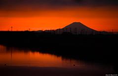 Mt.fuji (March Hare1145) Tags: 日本 japan 夕日 夕焼け sunset orange シルエット silhouette mountain 富士山 山