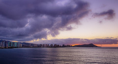 Hello Honolulu (the CAMera of ian CAMpbell; simple) Tags: hawaii honolulu sunrise sea sky cloud