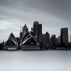 opera house (Raymond Clack) Tags: sydney opera house bennelong point australia new south wales bnw black upton long exposure