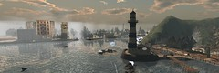 Coldfront (alexandriabrangwin) Tags: alexandriabrangwin secondlife 3d cgi computer graphics virtual world photography bar harbor maine massachusetts america rural town lighthouse scenic storm cold front snow rain winter sleet ocean view panorama waves whale breach water