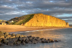 The sandstone cliffs at West Bay, Dorset (Baz Richardson (catching up again!)) Tags: dorset westbay cliffs eastcliffwestbay sandstonecliffs broadchurch coast seaside beaches