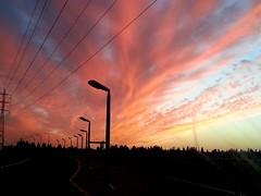 Amazing Sunset (claudia.joseph16) Tags: sunset sky horizon darkness orange clouds burst color