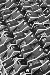 balconies (eb78) Tags: bw blackandwhite monochrome greyscale grayscale israel telaviv architecture abstract explore