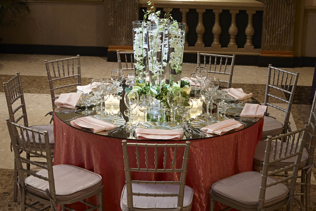 ... Round Table Setting-Glass Mirror Top 1 ... & Contemporary Settings | Martin\u0027s Caterers