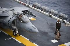 150604-N-DQ503-055 (U.S. Pacific Fleet) Tags: marine flight navy jet deck taylor marines pilot flightdeck amphibious eastchinasea av8bharrier ussbonhommerichard ussbonhommerichardlhd6 bonhommerichard elberg bonhommerichardamphibiousreadygroup taylorelberg dq503 bhrarg