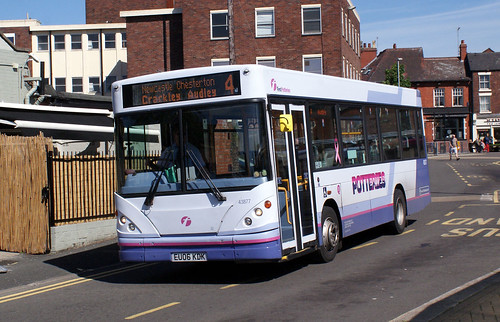 staffs - first 43877 newcastle-under-lyme 04-6-15 JL