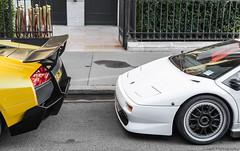 Lamborghini Diablo SVR & Murcielago SV. (JayRao) Tags: paris france june nikon îledefrance diablo bugatti lamborghini supercar sv veyron murcielago vitesse svr jayr 2015 d610 grandsport