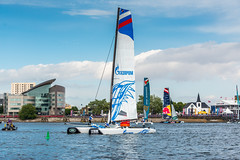 @ Cardiff Extreme sailing event (technodean2000) Tags: uk sea water wales boat team nikon sailing south extreme cardiff sail lightroom d610