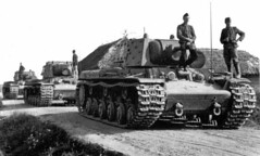 Captured KV-1E heavy tanks in German service