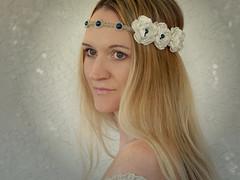 bridal-headband-floral-crown (MoJo's Free Spirit) Tags: blue wedding handmade pearls bridal headband hemp headpiece hairaccessory floralcrown hippieheadband pearlbandhair