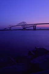 TokyoGatebridge (Aki tomo PHOTO) Tags: bridge light japan night river tokyo view   phot