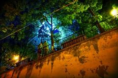 looking up into the light (valeriadalua) Tags: street decorations party people portugal lisboa lisbon grilled festas sardines alfama stanthony sardinhas santoantnio festasjuninas santoantniodelisboa festasdelisboa