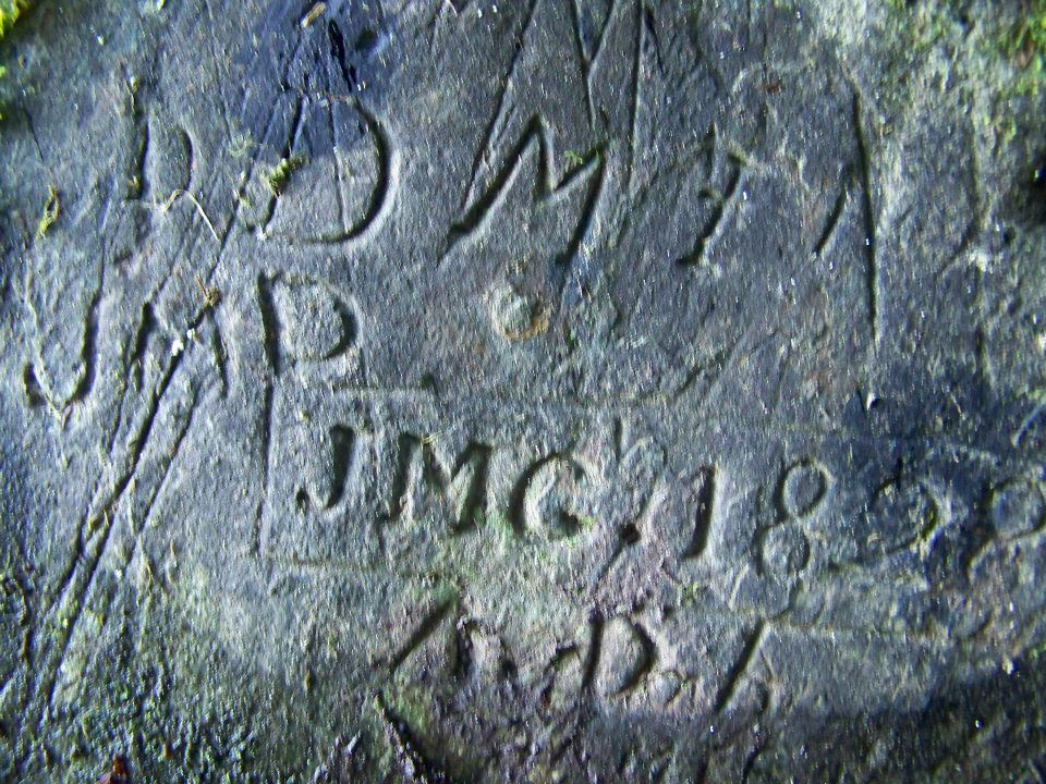 Engravings inside Fishermans Cave