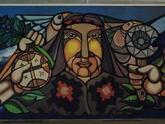 Wall (natowashere) Tags: street art mural mapuche fuerza