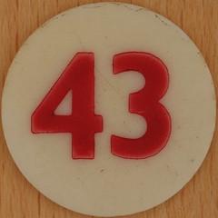 Bingo Number 43 (Leo Reynolds) Tags: xleol30x squaredcircle number numberbingo xsquarex bingo lotto loto houseyhousey housey housie housiehousie numberset 43 sqset120 40s canon eos 40d xx2015xx xxtensxx sqset