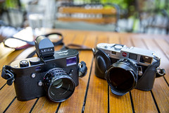 Modern Classic meets Classic (Explored Aug 11 2015) (mpmark) Tags: camera leica classic film vintage rangefinder m6 leicam6 cameraporn leicamp 5dmkiii