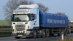 FP63 FMK (panmanstan) Tags: scania wagon truck lorry commercial freight transport steel haulage hgv vehicle a1 yorkshire