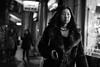 December Nights (Explored) (Cliff.j) Tags: night street candid portrait blackfriars london shop window light girl fur coat phone walking shops city necklace carl zeiss sonnar 55mm sony a7 mirrorless unposed looking