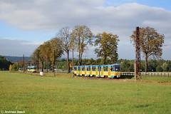 Waltershausen, 15.10.16, KT4D 309+313 an der Ausweiche zw. Wahlwinkel & Leina