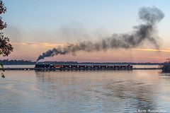 Dusk on the Fox Lake Causeway (kdmadore) Tags: steamlocomotive steam soo1003 soo train railroad wisconsinsouthern wsor mikado sooline steamengine