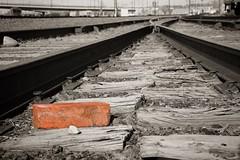 Brick on the Tracks (lars hammar) Tags: pueblo brick tracks traintracks