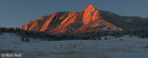 Photo - Alpenglow on the Flatirons - City of Boulder Open Space and Mountain Parks