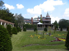 Sonnenberg Gardens & Mansion ~ Historic Park ~ Canandaigua NY (Onasill ~ Bill Badzo) Tags: sonnenberg gardens mansion historic park canandaigua ny ontario county onasill nrhp queen anne architecture historical building interior fireplace moose victorian style finger lakes house turrets sky clouds 73001240 outdoor garden country german clark family