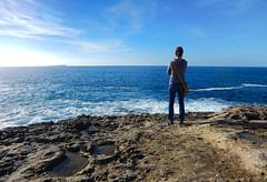 Un mare grande (Cjasar) Tags: mardisardegna seaofsardinia mediterranean mediterraneo sea mare cliffs scogliere water acqua waves onde panorama horizon orizzonte sardegna sardigna sardinia nikonaw120