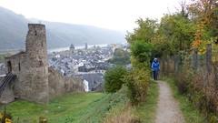 Stadtmauer von Oberwesel - es regnet
