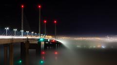 Into the Mist (Ginger Snaps Photography) Tags: bridge mist weather kessock inverness highland scotland transport longexposure night nightphotography darkness city skyline sigma sigmaphoto
