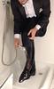 white-tie-shower-1_10300366793_o (shinydressshoes) Tags: tails tailcoat tuxedo suit muddy gunge wet shiny shoes shinyshoes leather patent dressshoes groom wedding whitetie frack formal shower lackschuhe lackschuh