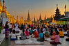 Praying at Shwedagon Pagoda, Yangon (gerard eder) Tags: world travel reise viajes asia southeastasia myanmar yangon shwedagonpagoda praying sunset pagoda temple burma birmania rangoon evening people