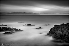 Somewhere In The Rain (Darkelf Photography) Tags: kuaotunu newzealand nz north island travel coromandel peninsula blackandwhite mono monochrome bw landscape seascape longexposure lee filter canon bigstopper 5div 24105mm maciek gornisiewicz darkelf photography somewhereintherain coast shore clouds rocks 2016