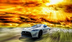 JAGUAR XKR-S GT 2015 (@Britney Beyonce) Tags: automobile auto jaguar britishcar sunbeam sunset worldcars worldcar photoshop pixabay rays forzahorizon3 hdr supercar