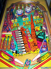 Totem (scottamus) Tags: pinball machine game table arcade playfield layout art artwork design graphics totem gottlieb 1979