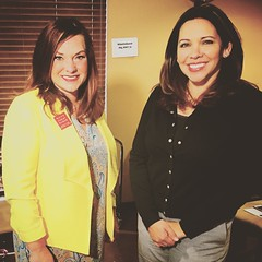 Moms Clean Air Force wraps up an on-camera interview with News4 San Antonio/WOAI Investigative Reporter April Molina