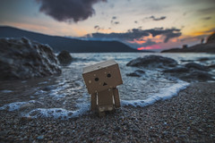 Sadness (Vagelis Pikoulas) Tags: danbo sad sadness loneliness lonely alone canon 6d tokina 1628mm beach winter porto germeno greece europe 2017 rock rocks sunset waves cloudy clouds sky