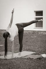 IMG_3054 (bobobahmat) Tags: summer portrait people bw woman white black sexy girl sport yoga pose eyes outdoor group lviv ukraine gymnastics ukrainian lvov bnw asanas briukhovychi