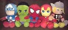 Super Hero Squad Plushies (CJ Blukacz) Tags: spiderman ironman hulk thor captainamerica superherosquad