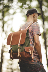 backpack (silkfatblues) Tags: nature leather forest bag woods alone dof bokeh outdoor handmade hiking 85mm craft backpack hiker manstuff carlzeiss cordura leathercraft wonderer planart1485 lionholsters silkfatbluesleather
