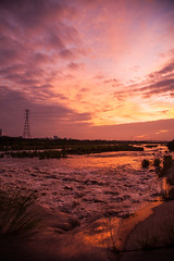 Touqian River Sunset  (paulpaulpauly) Tags: park sunset river taiwan   hsr     zhubei touqian