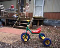 Trike boy (tony.hegwood) Tags: boy tricycle trailer mobilehome 365project tonyhegwood
