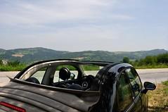 Open mind (bjoele) Tags: italy car landscape nikon fiat hills 500c 500 d90 piedmonte 1855mmf3556gvr