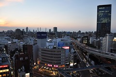 When the sun sets in Iidabashi (Thorsten Reiprich) Tags: city sunset summer urban streets building travelling japan modern concrete evening asia capital transport   kanto tokio honshu chiyoda