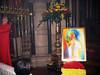 """Saint James"" by Stephen B. Whatley on show at St James's Spanish Place. 2015 (Stephen B. Whatley) Tags: flowers light red man male london art beauty yellow painting gold spain birmingham gate glow peace contemporaryart modernart prayer paintings holy spanish ethereal expressionism glowing bouquet pillars soe sanctuary prayers oilpainting westminstercathedral altarboy saintjames blueribbonwinner churchinterior bishopofbirmingham abigfave anawesomeshot goldstaraward stephenbwhatley archbishoplongley artiststephenbwhatley archbishopbernardlongley stephenwhatley frchristophercolven paintingsfromprayer stjamessrcchurchspanishplace feastdayofsaintjames solemnityofsaintjames"