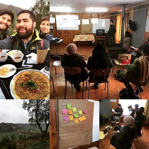 Un muy buen día! Comenzando con el trabajo con las agrupaciones de mujeres mapuche-lafkenche Rayen Voygue y Cuyinpalihue de Cañete... Y luego su buen plato de lentejas con Merken en el Mercado Jajajaja:.. Y su vueltecita al Fuerte Tucapel para bajar el al