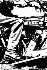 Vintage Motorcycle (Larrie Barlow) Tags: art vintage motorbike motorcycle barlow bsa larrie